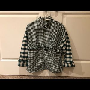 Zara Relaxed Gingham Button Down